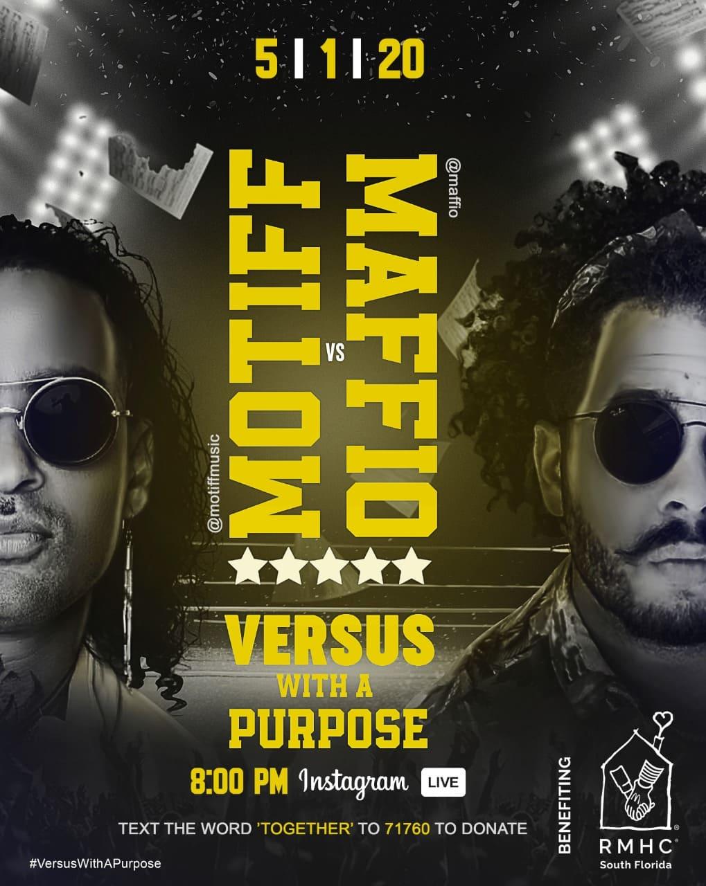 Los productores de renombre Maffio y Motiff anuncian enfrentamiento musical en: Versus with a Purpose
