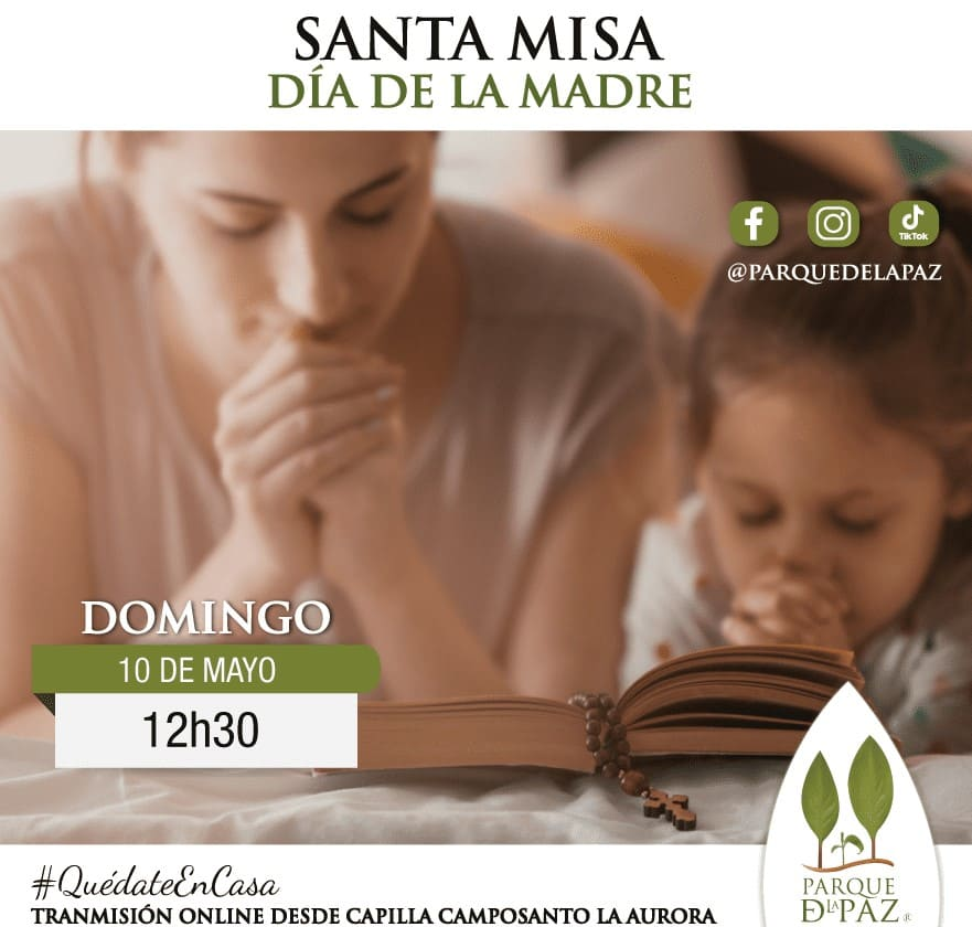 Parque de la Paz invita a Misa especial por  Día de las Madres