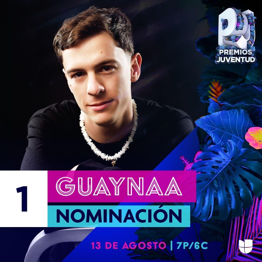 """Guaynaa nominado a Premios Juventud en la categoría """"Me Llama La Atención"""""""