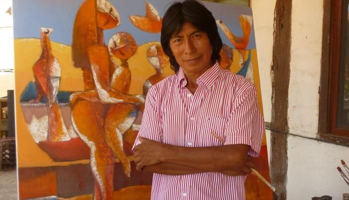 Village apoya el talento nacional con exposición de Olmedo Quimbita