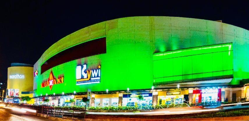 Citymall se iluminó de verde por la semana de la sostenibilidad