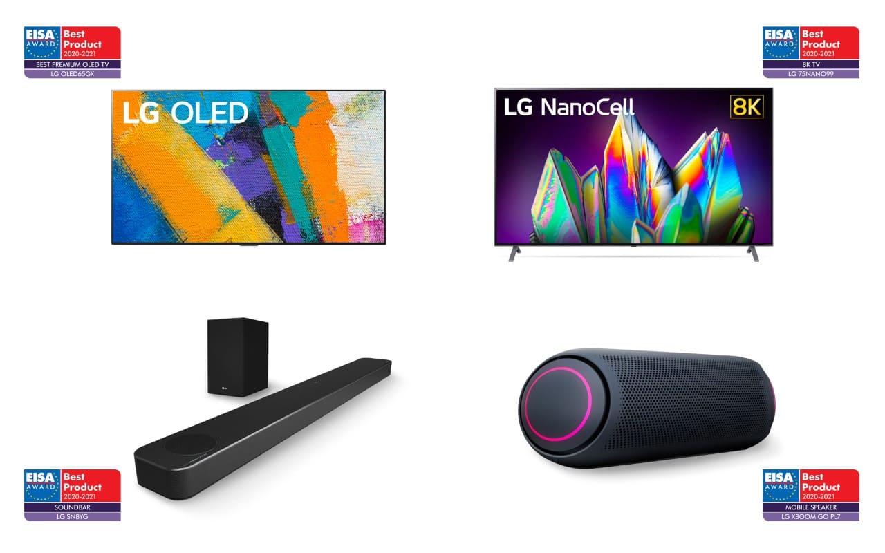 LG gana Premios EISA 2020 por su liderazgo e innovación en productos de entretenimientos