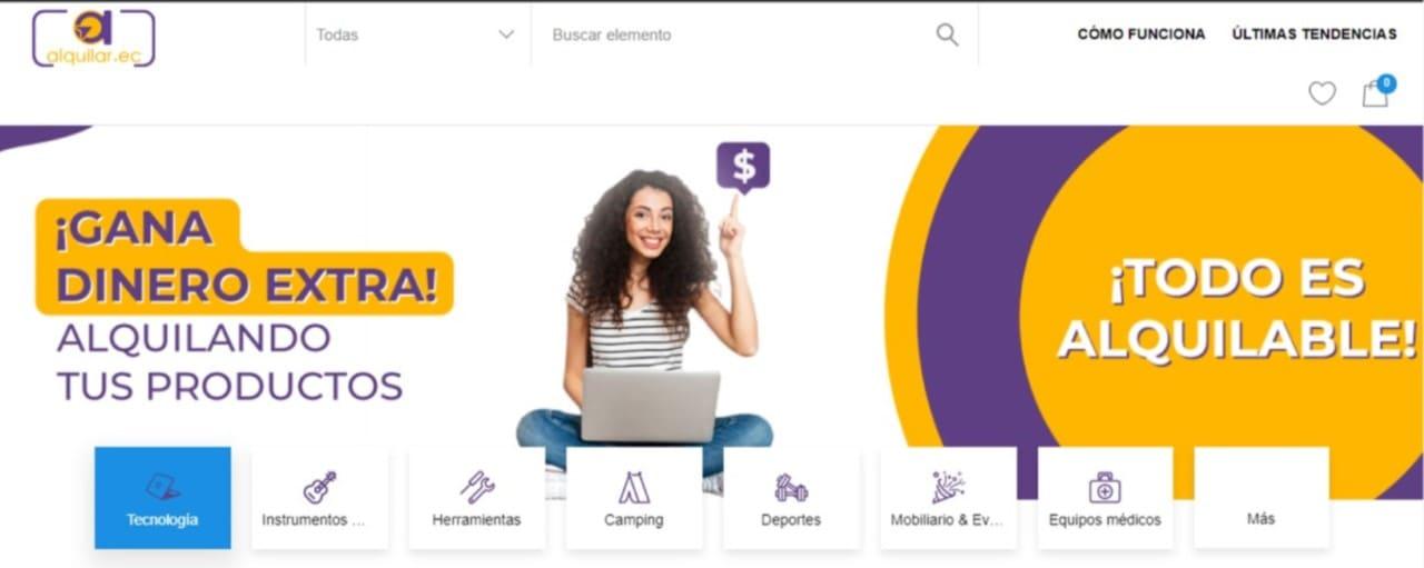 Alquilar.ec primera plataforma online de alquiler de productos asegurados del Ecuador