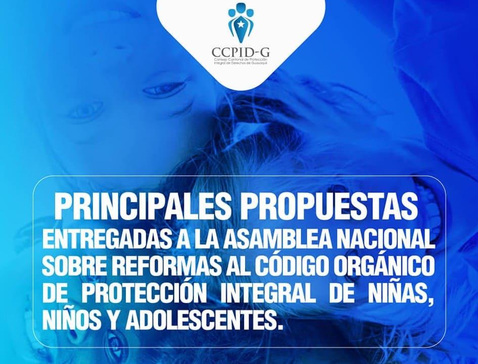 CCPIDG presentó a la Asamblea Nacional propuestas de reformas al Código de la Niñez y Adolescencia