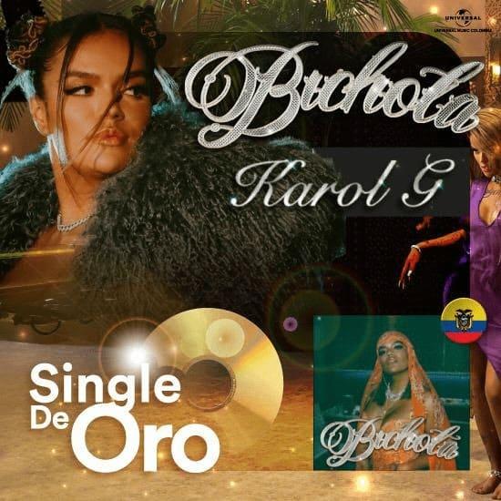 """Karol G certificada Disco de Oro en Ecuador por su reciente sencillo musical """"Bichota"""""""