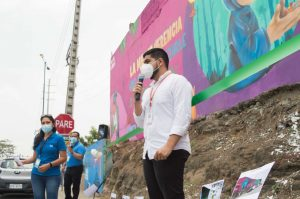 """El mural """"Comunidad, vida y color del Fortín"""", invita a cuidar el espacio ambiental"""