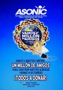 """ASONIC PRESENTA SU PROYECTO """"UN MILLÓN DE AMIGOS"""""""