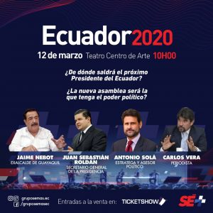 """""""ECUADOR 2020"""" ES EL CONGRESO MÁS IMPORTANTE DE POLÍTICA, ECONOMÍA Y DEPORTE"""