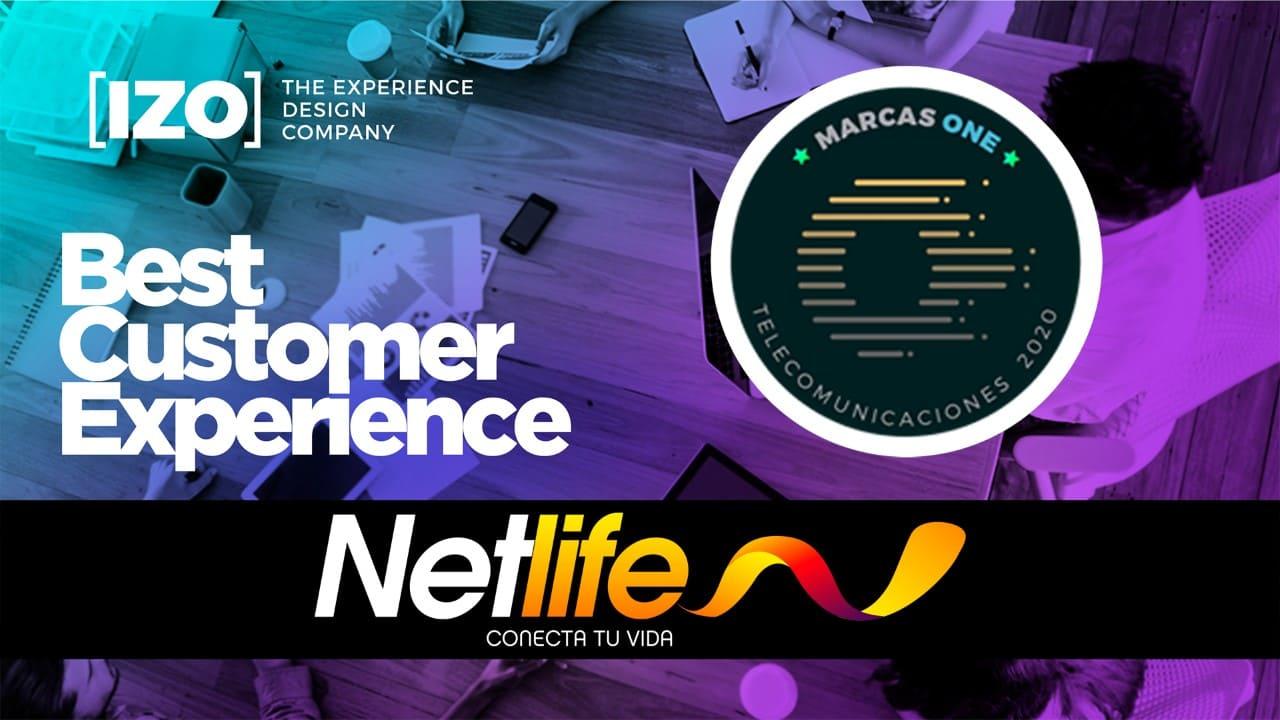 NETLIFE RECIBE RECONOCIMIENTO IZO POR BEST COSTUMER EXPERIENCE