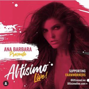 """Ana Barbara se une al festival """"Altísimo Live"""" junto a Eva Longoria y Enrique Santos"""