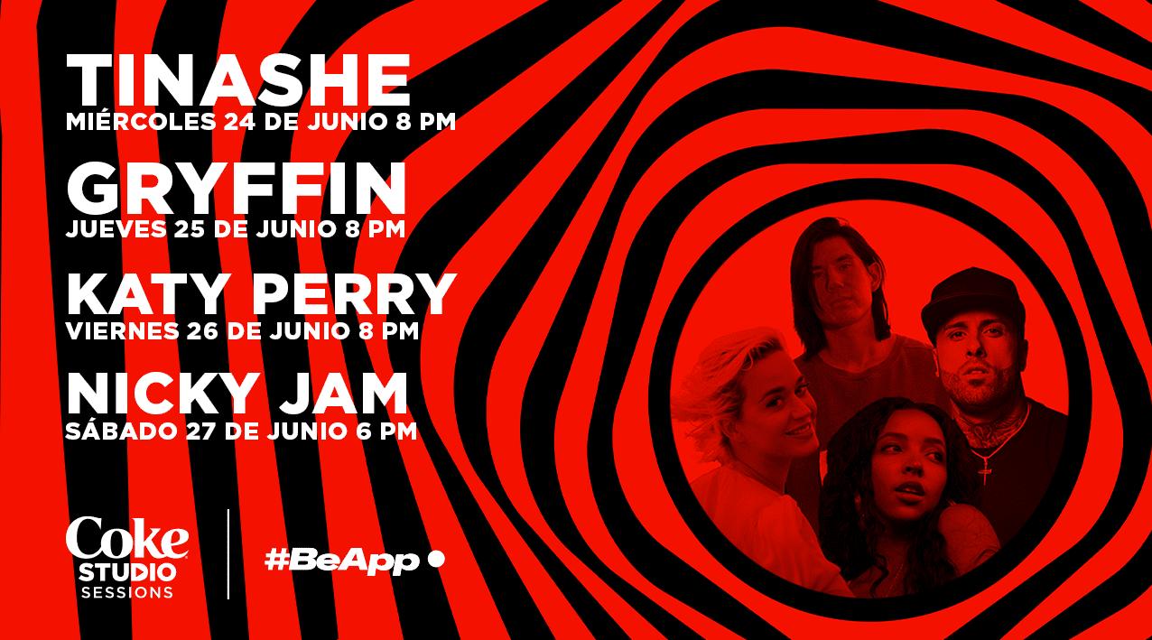 Katy Perry y Nicky Jam se presentarán en vivo en las sesiones de Coke Studio