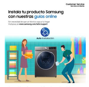 Samsung ofrece soporte de instalación online a sus clientes