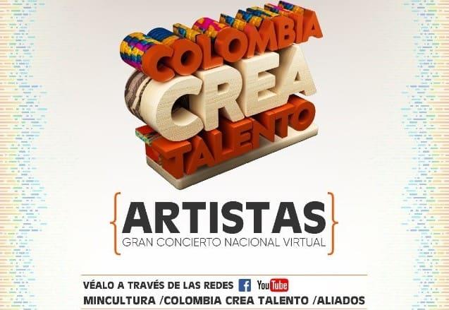 Concierto virtual Colombia Crea Talento se desarrollará este 20 de junio