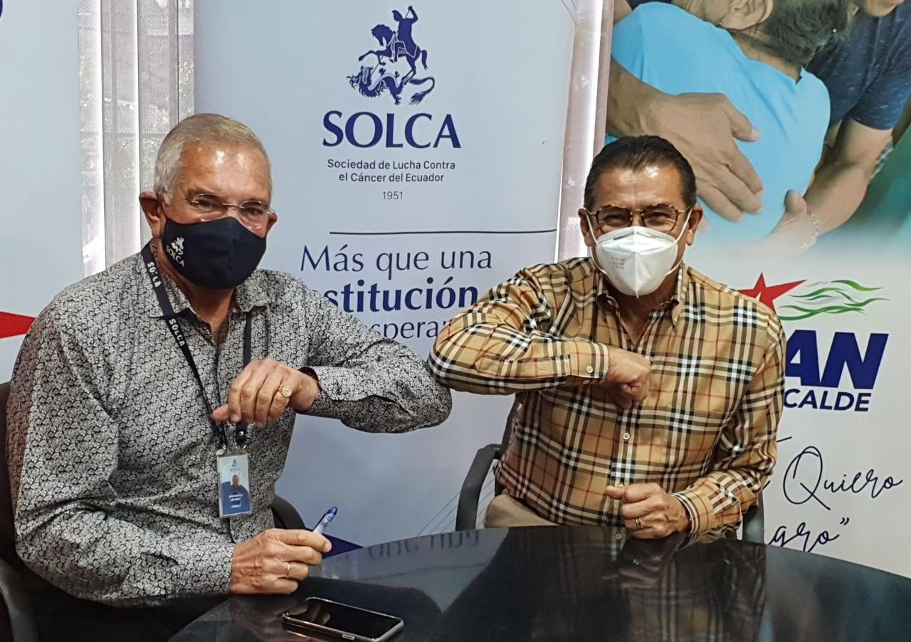"""Firma de convenio entre Alcaldía de Milagro y Solca Guayaquil para la subvención de gastos del programa """"Deteniendo Mi Cáncer"""""""
