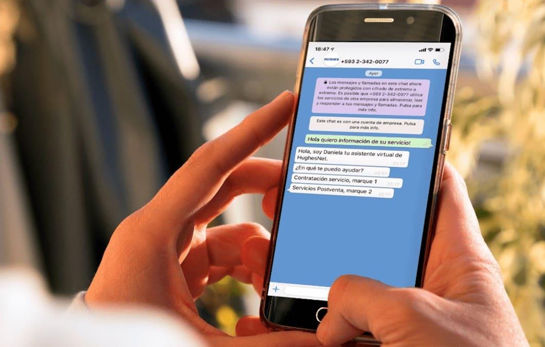 HughesNet Ecuador implementa nuevo canal de ventas vía WhatsApp