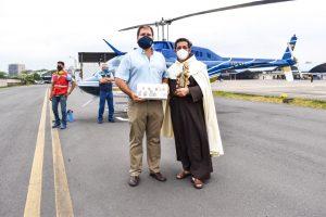En honor a la Virgen del Carmen se realizó sobrevuelo en Guayaquil y sus alrededores