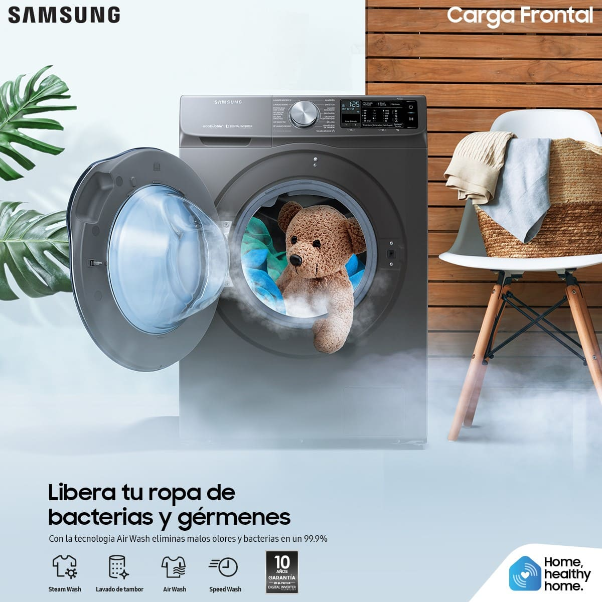 Conserve la calidad de su ropa con las lavadoras inteligentes de Samsung