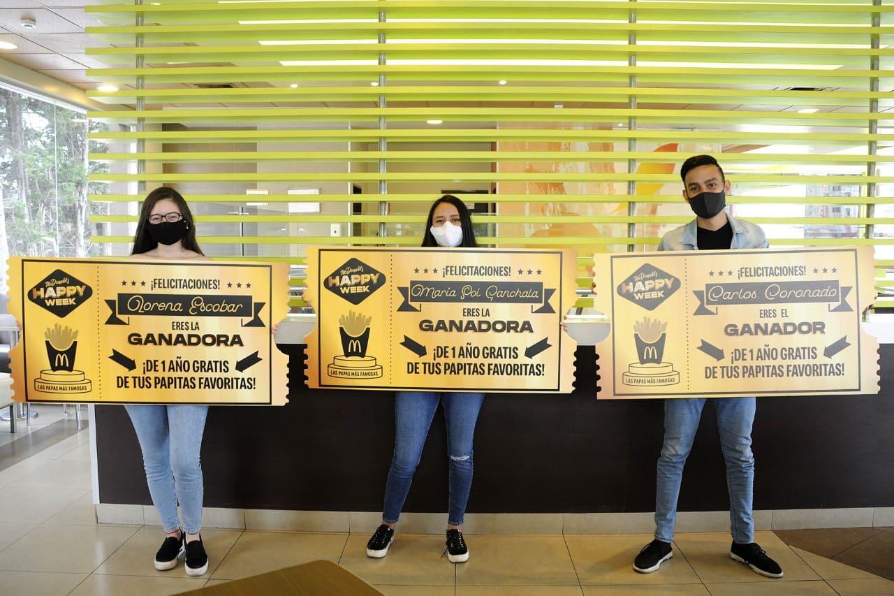 McDonald's premió a los 5 ganadores con un año de papas gratis