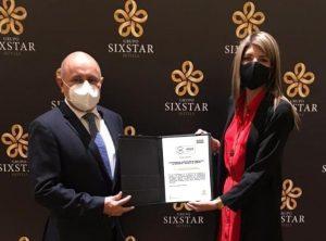 Grupo Sixstar Hotels, obtiene certificación en verificación del protocolo de seguridad y salud en el trabajo