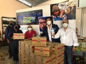 Nevada Ecuador realizó donación de gel antibacterial a Renarec