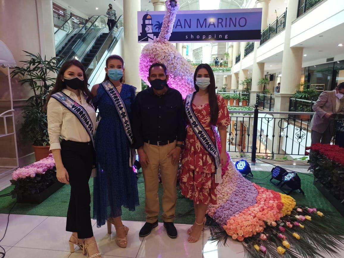 San Marino Shopping exhibe majestuosa Pava Real formada por rosas de exportación