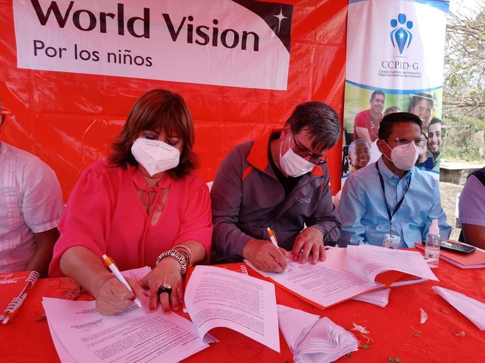CCPIDG firma alianza interinstitucional con World Visión para el bienestar de la Niñez y Adolescencia