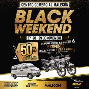 Centro Comercial Malecón celebra el Black Weekend con tres días de descuentos