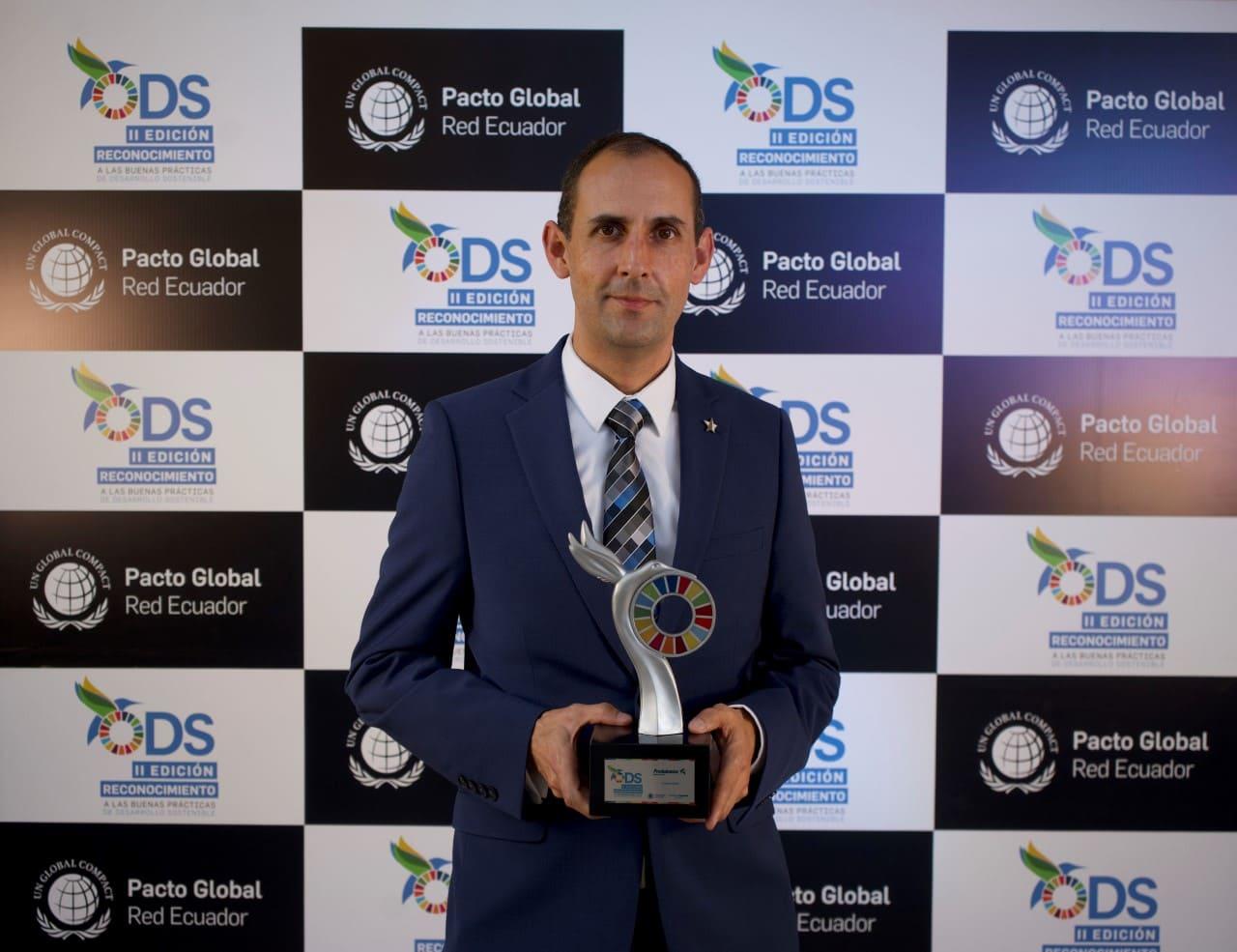 """Produbanco fue galardonado con el """"Reconocimiento ODS a las Buenas Prácticas de Desarrollo Sostenible"""""""