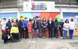 """CCPIDG inauguró """"Mural de la inclusión"""" para visibilizar a las personas con discapacidad"""