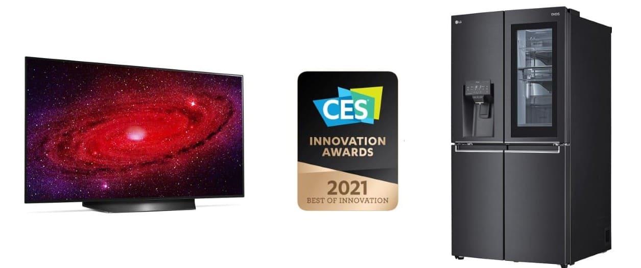 LG es galardonado con los premios a la innovación CES 2021