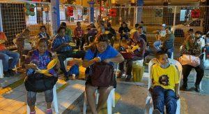 Fundación Saquemos Sonrisas realizó una cena navideña para personas que viven en las calles de la ciudad