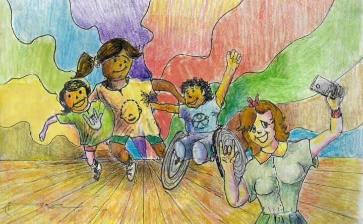 En Guayaquil se celebra con arte a las personas con discapacidad