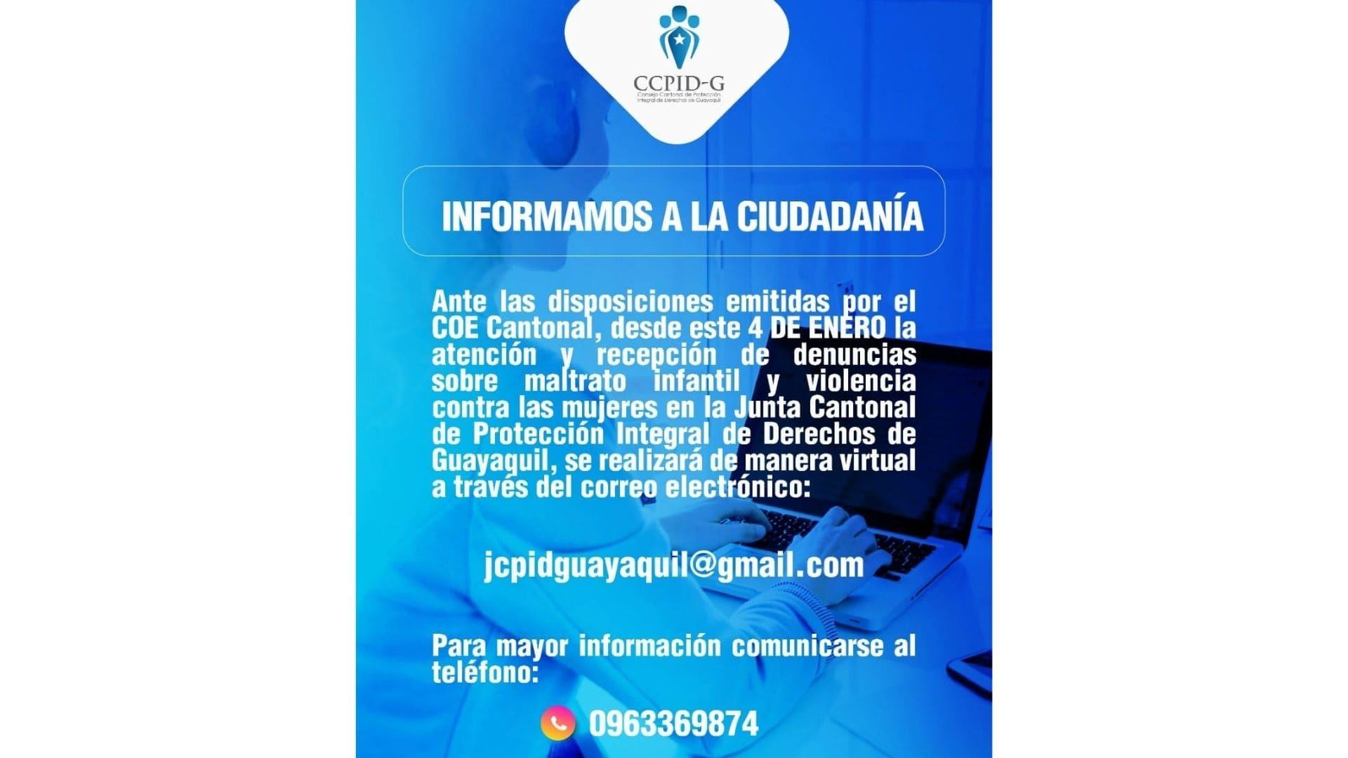 En Guayaquil se implementa plan piloto de primera acogida para mujeres víctimas de violencia