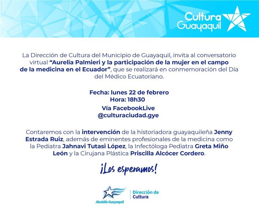 Conversatorio sobre Aurelia Palmieri por el Día del Médico Ecuatoriano