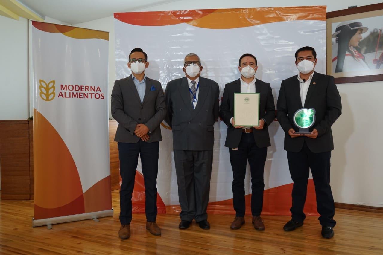 "Moderna Alimentos recibe certificación ""Empresa Eco-eficiente"" para su planta Cajabamba"