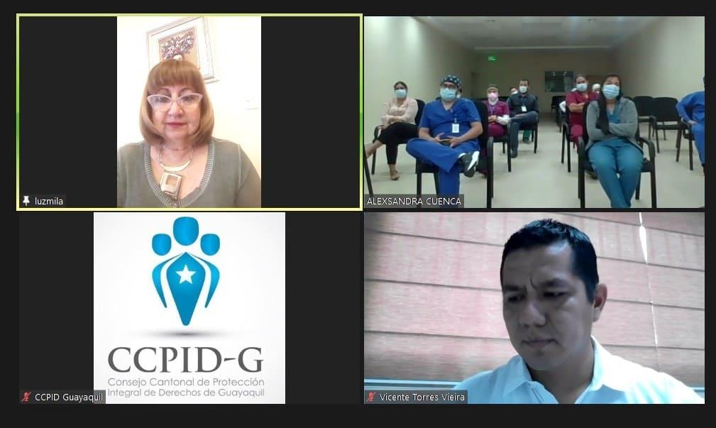 CCPIDG capacita sobre protección infantil al personal médico y administrativo de Hospitales