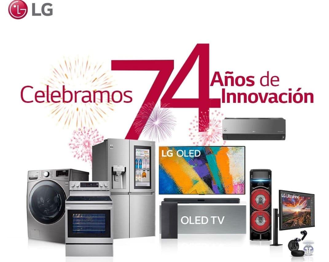 LG 74 años aniversario