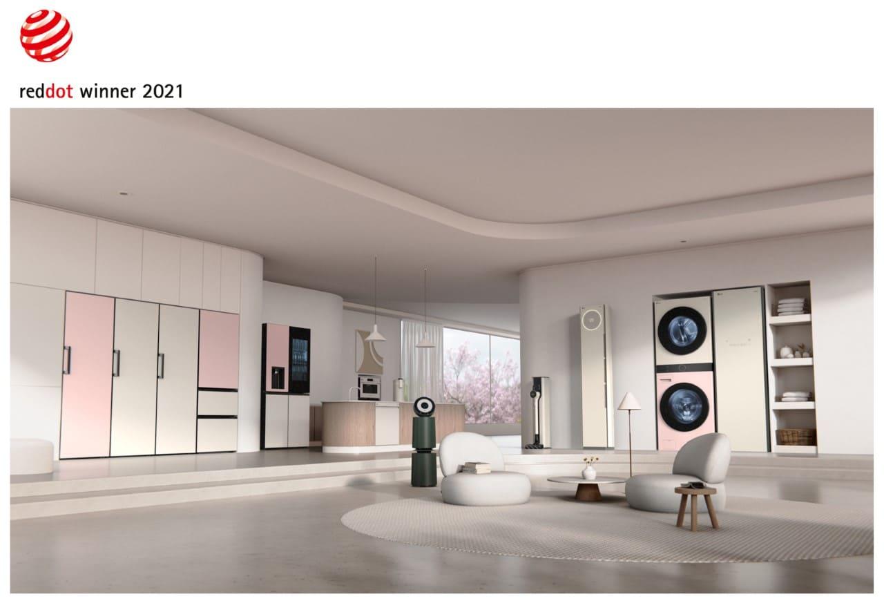 LG es reconocido nuevamente por la excelencia en el diseño de productos por parte de Red Dot
