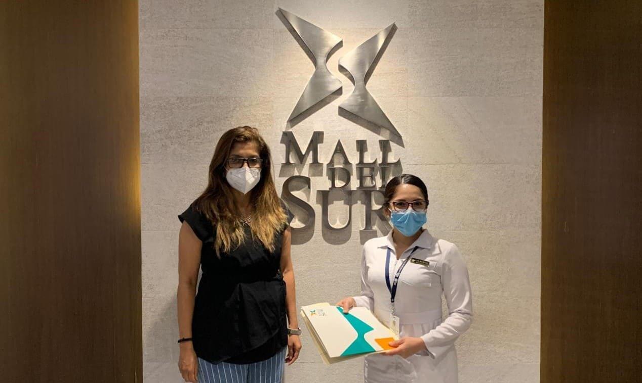 Mall del Sur efectúa la primera donación a personal de la Salud Pública
