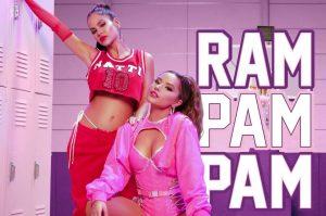 "Natti Natasha y Becky G se unen por segunda vez a modo ""Ram Pam Pam"""