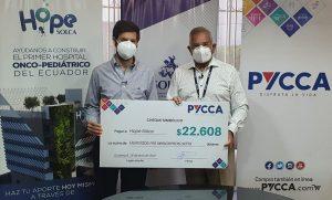 Solca Guayaquil recibe donación de Almacenes Pycca