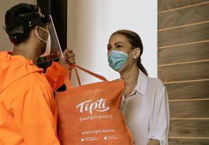 Tipti continuará con su servicio de entrega de compras a domicilio durante el confinamiento