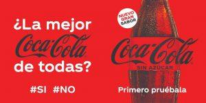 La compañía Coca-Cola renueva su receta de Coca-Cola Sin Azúcar