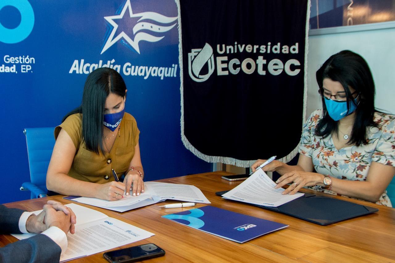 Épico y Ecotec firman convenio para hacer seguimiento del impacto socioeconómico del Covid-19 en Guayaquil a 1 año de la pandemia