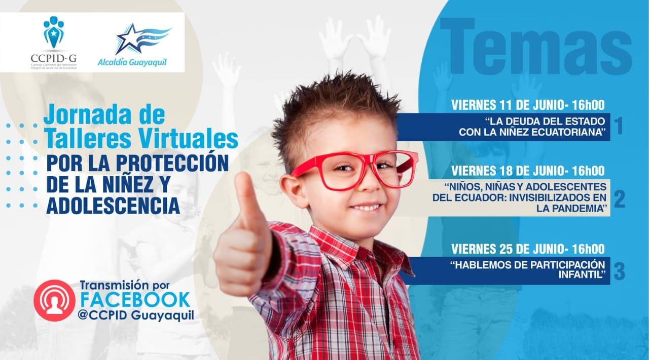 CCPIDG presenta su Jornada de talleres virtuales por la protección de la niñez y adolescencia