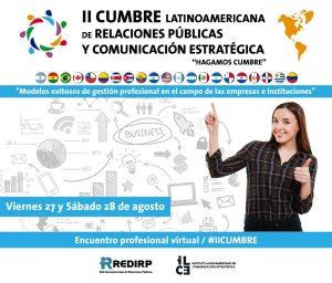 La II Cumbre Latinoamericana de Relaciones Públicas y Estrategias de Comunicación será en agosto