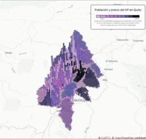 ¿Cuál es la relación entre la altura sobre el nivel del mar y las viviendas en Quito?
