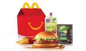 Los colorantes y saborizantes artificiales serán eliminados de la Cajita Feliz de McDonald's