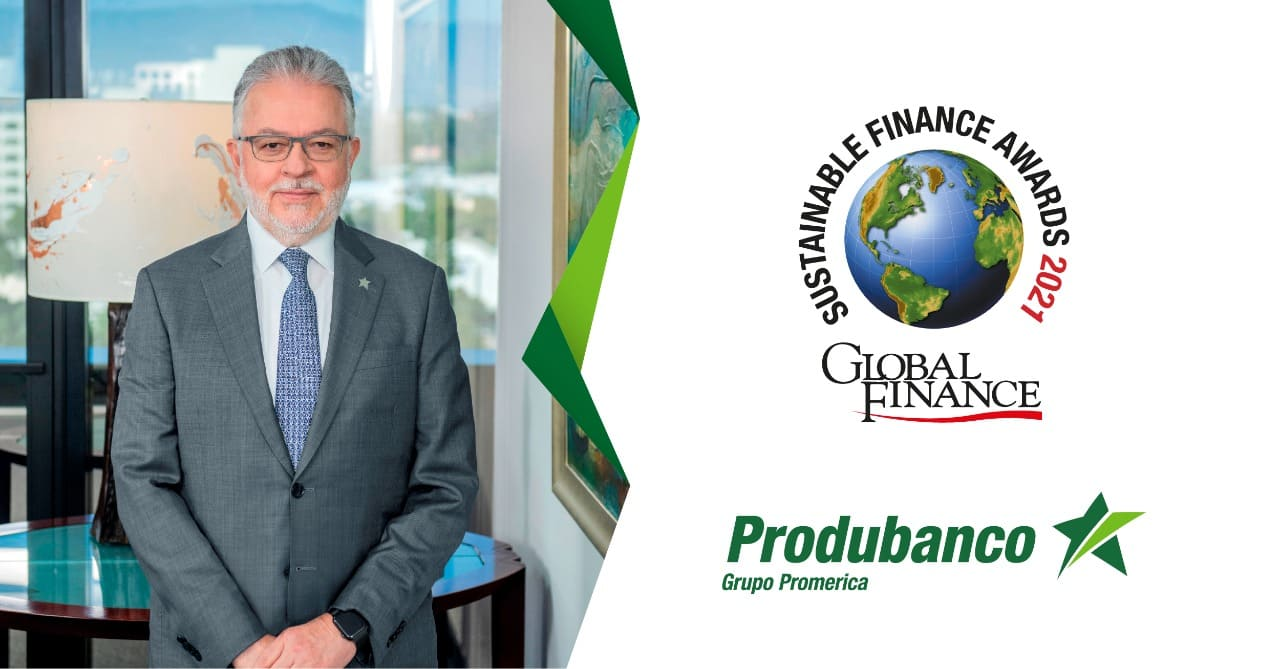 """Produbanco recibe dos reconocimientos en los """"Sustainable Finance Awards 2021"""" de Global Finance"""