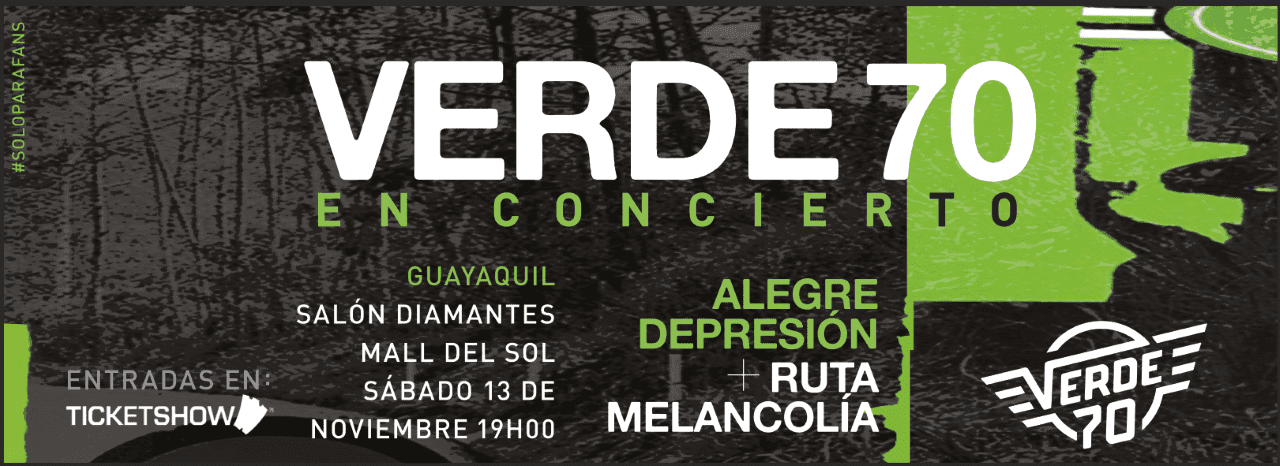 En homenaje a sus dos primeros discos, Verde 70 realizará un show único en Guayaquil
